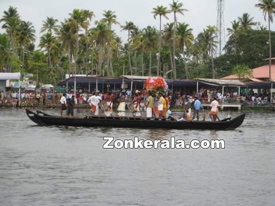 Chenda melam on boat