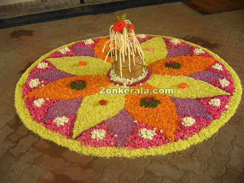 Pookkalam for onam