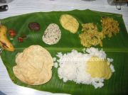 Sadhya on leaf