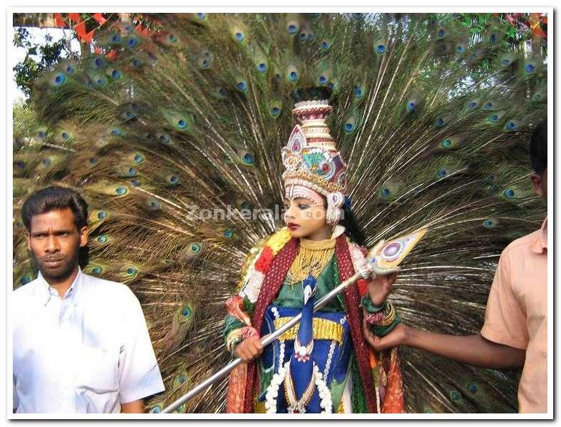 Dressed as subramanyan