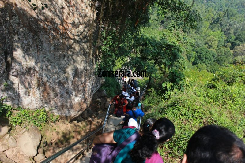 People alighting down from edakkal caves 271