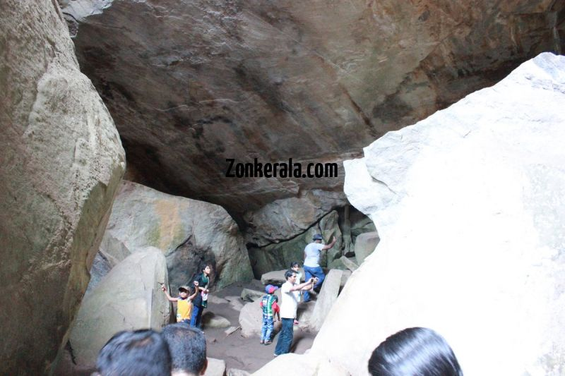 People inside the cave at edakkal 894
