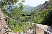 Stairs down from edakkal caves top 738