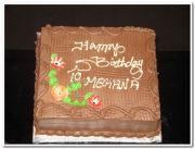 Chocolate birthday cakes 2