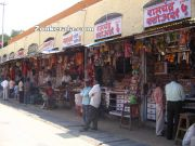 Shops inside temple