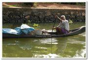 Natives on boat still 7
