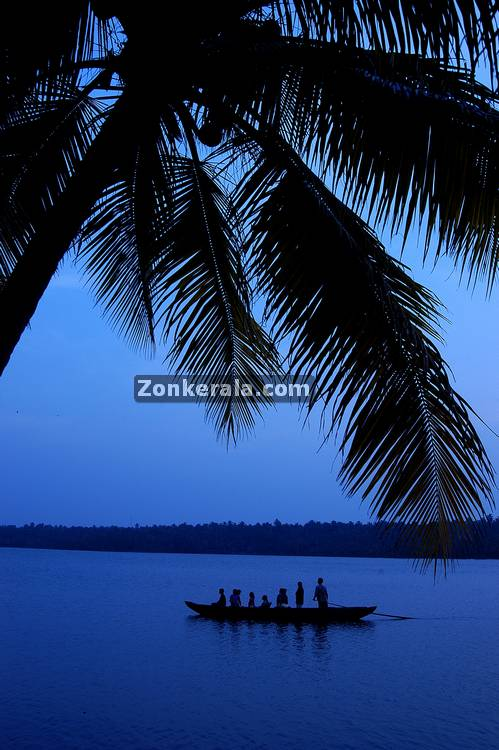 Evening in alappuzha backwaters