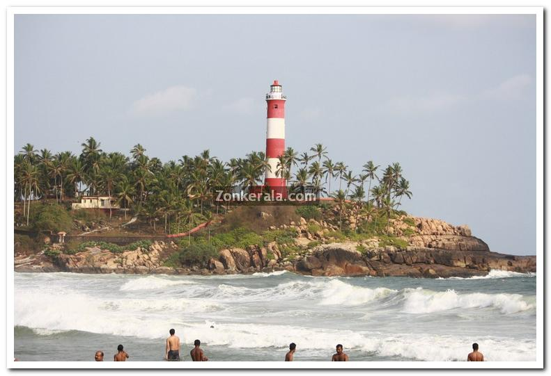 Kovalam beach light house 2