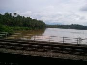 River during rainy season in kerala