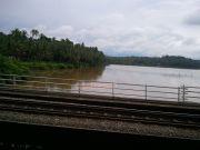 River during rainy season in kerala