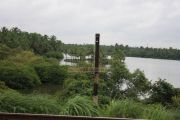 River from the rail tracks in kerala