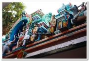 Attukal devi temple gopuram idols 1