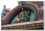 Attukal devi temple gopuram idols 3
