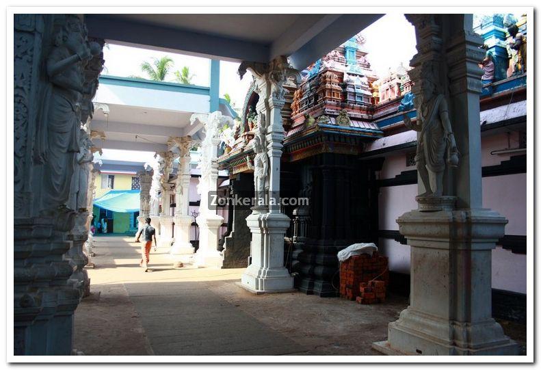 Attukal devi temple gopuram idols 6