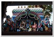 Attukal devi temple gopuram idols 9