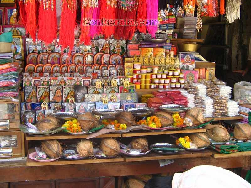 Shops inside temple still