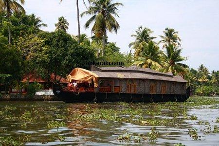 boat house kerala. Alleppey House Boat, Kerala