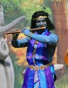 Prithviraj In Srikrishna Attire In Tamil Movie Kaaviyathalaivan 733