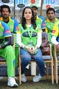 Actress Bhavana At Kerala Vs Bengal Match 563