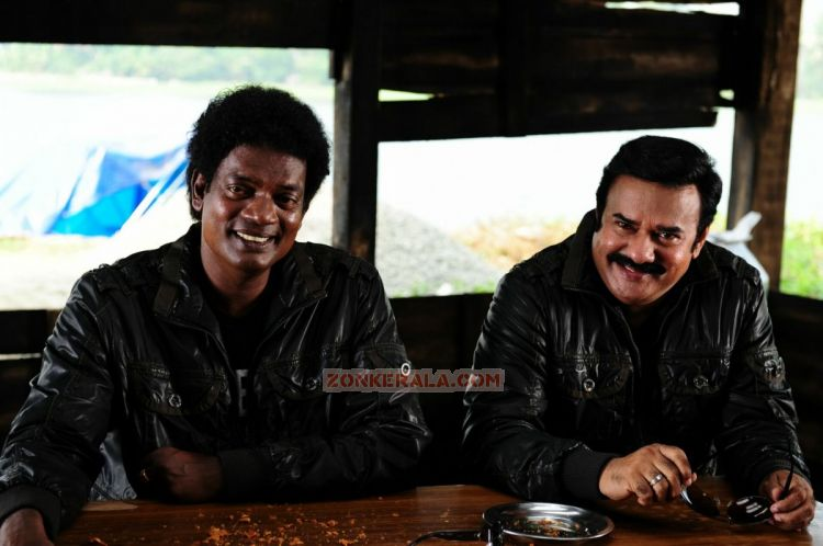 Salim Kumar And Manianpillai Raju In Cobra 463