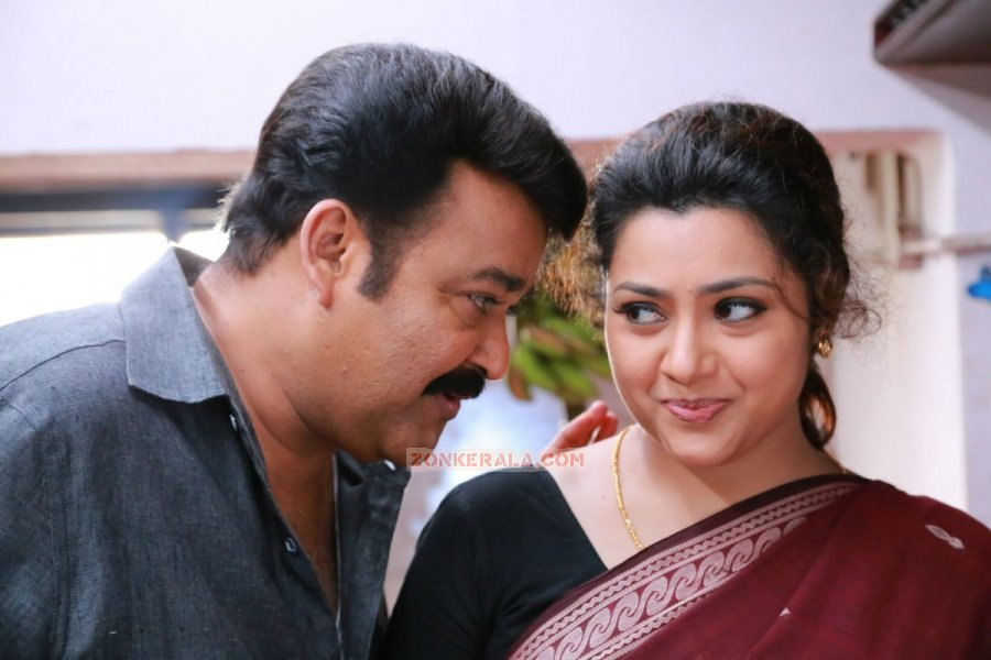 Mohanlal And Meena In Movie Drishyam 12