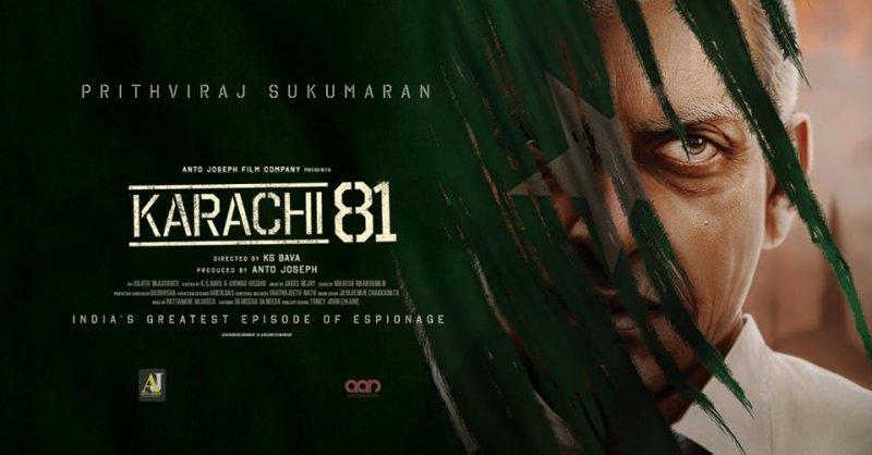 Prithviraj Sukumaran Karachi 81 First Look Poster 203
