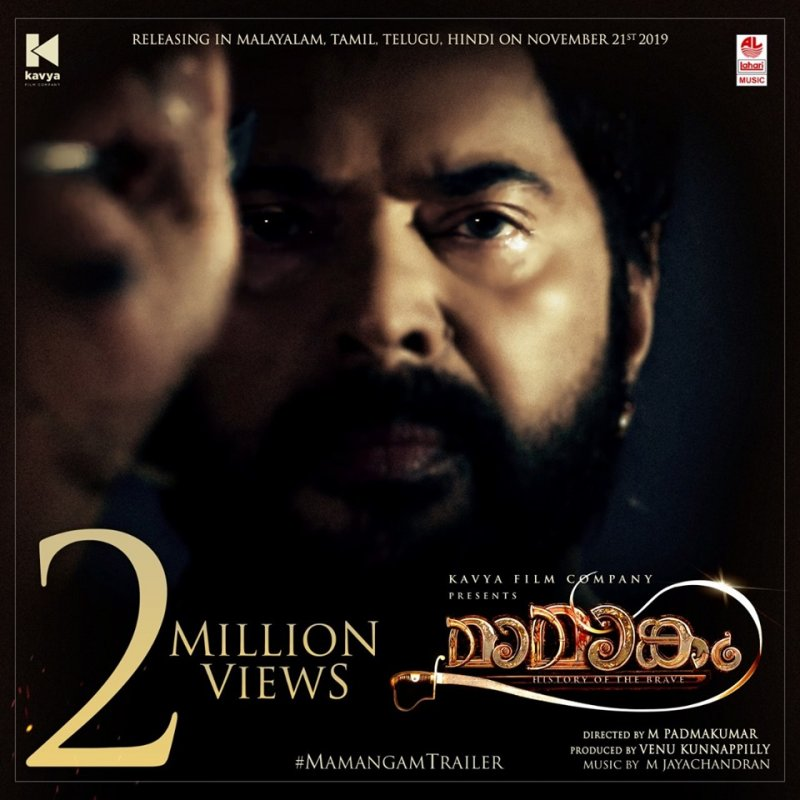 Mammootty Mamangam Trailer 2 Million Views Poster 404