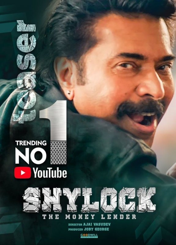 Mammootty Shylock Teaser Poster New 742