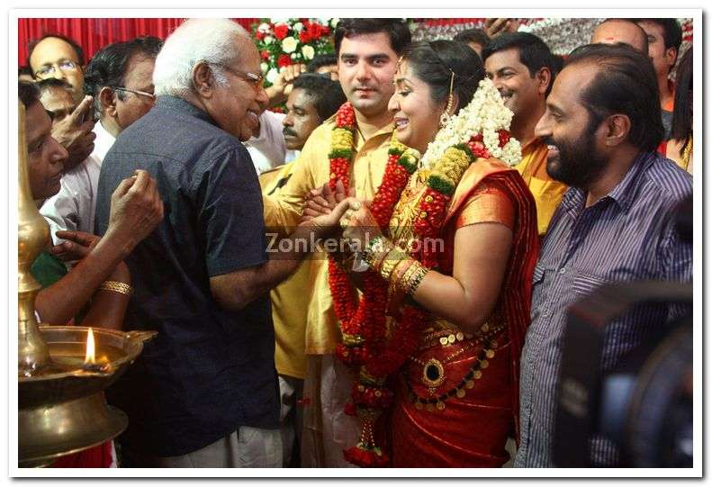 Thilakan With Navya And Santhosh
