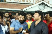 Vikram Birthday At Natchathira Cricket With Mammootty 875